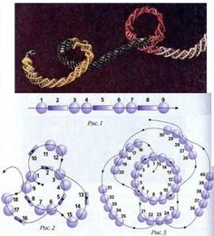 Spiral schema may be enough, otherwise, translate.  #Seed #Bead #Tutorials