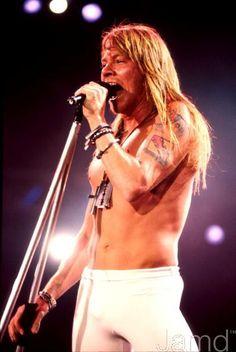 Axl Rose of Guns N' Roses, Rock in Rio, 1991