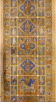 Hildesheim, St. Michael's church - Painted wooden ceiling from about 1230 CE   Flickr - Photo Sharing!