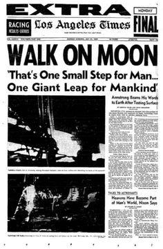 1969 Moon Landing Headline of the New York Times #space #apollo #landing