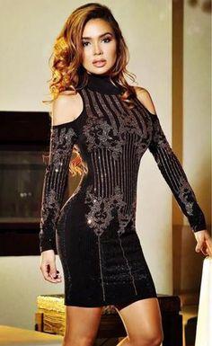 Bodycon Tight Retro Velvet Party Dress