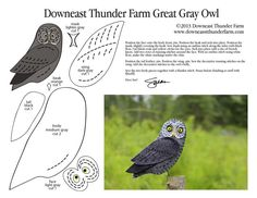 Recently, Sheena wrote: I would love you to produce a great grey owl pattern. My daughter had a great grey owl fly up the isle at her wedding land on her husband's arm and deliver their rings…