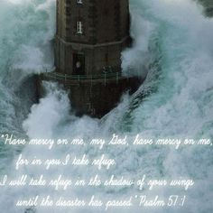 ..light house with scripture