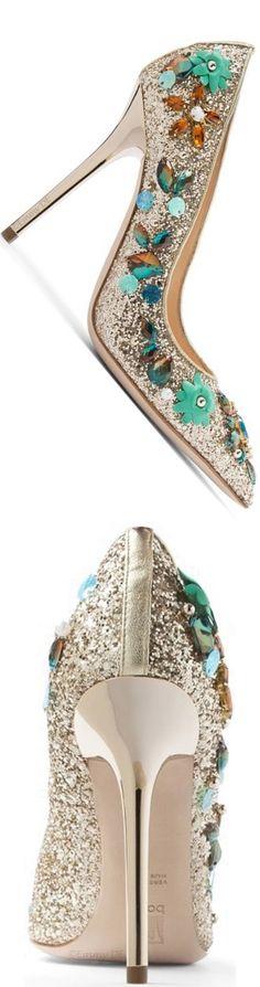 Brilliant Luxury by Emmy DE ♦Ballin 'Iris Blue' Pumps