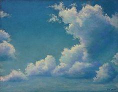 Chasing - Sky by Regina Burchett Pastel ~ 14 x 11
