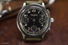 Eberhard Split-Seconds Chronograph with Breguet-style Arabic numerals and hands.