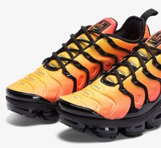 official photos 7ec7f f630b The Nike VaporMax Plus Sunset is a nod to the original Nike Air Max Plus  Sunset release dressed in Black and Total Orange. A release date is set for