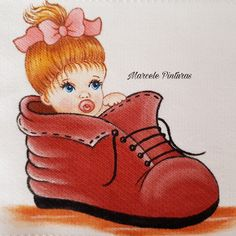 Pintura de menina- Marcele Pinturas