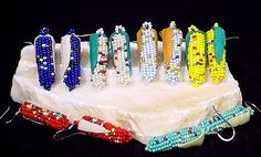 Free Native American Beadwork Patterns | Navajo Beaded Corn Jewelry by Alice Begay is featured at Bair's.