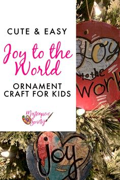 Gather the kids and the art supplies and kick off the holiday season with this cute and easy Joy to the World Christmas Ornament Craft! Christmas Art Projects, Advent Activities, Christmas Activities For Kids, Christmas Ornament Crafts, Christmas Themes, Kids Christmas, Joy To The World, Winter Theme, Business For Kids