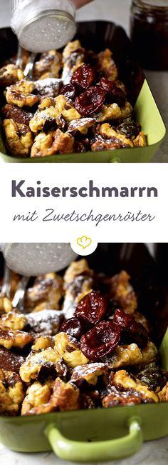 Die wohl berühmteste aller Wiener Mehlspeisen zusammen mit herrlich süßen Zwetschgenfrüchten aufgetischt - Ein Rezept aus Susanne Zimmels