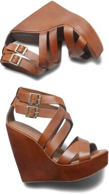korkease wedges brown strappy leather. Nothing I love more than a good wedge