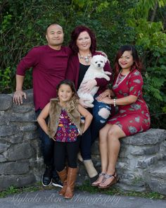 The Yangilmau family looking magnificent in maroon!  || Photo by Mykala Rae Photography || MykalaRae.com