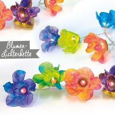 Blumen-Lichterkette Blog, Kids, Paper, String Lighting, Home Made, Florals, Do Crafts, Indoor, Light Fixtures