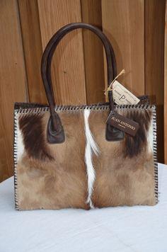 Juan Antonio Antelope and Brown Leather Purse