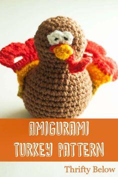 #Amigurami Turkey Pattern | ThriftyBelow.com #crochet