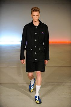Big buttons, big pockets  Gosha Rubchinskiy   Spring 2015 Menswear Collection   Style.com