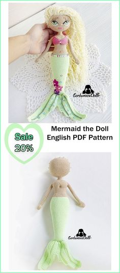 The pattern is a document, consisting of 22 pages and including detailed instructions and numerous photo tutorials to guide you through the process of creating the doll. Crochet Doll Pattern, Crochet Toys Patterns, Amigurumi Patterns, Stuffed Toys Patterns, Knitting Patterns, Handmade Dolls Patterns, Handmade Toys, Doll Patterns, Etsy Handmade