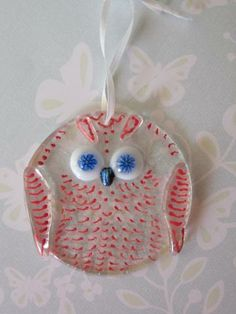 Fused Glass Suncatcher Owl