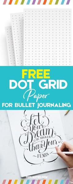 Dot Grid Paper: Free Printable Dot Grid Paper For Bullet Journals And Notes