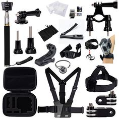 GBB Basic Outdoor Sport Action Camera Accessories Kit Camcorder DV Sets for Gopro Hero Hero1 2 3 3 4 Xiaoyi Yi Design for Bicycling25 items ** Be sure to check out this awesome product.
