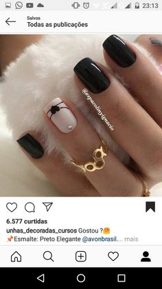 Glossy Black and cream nail art.lines/easy nail art. 💟💟💟Kathy Now – – Octavia Desing Glossy Black and cream nail art.lines/easy nail art. 💟💟💟Kathy Now – Glossy Black and cream nail art.lines/easy nail art. 💟💟💟Kathy Now – Beautiful Nail Art, Gorgeous Nails, Pretty Nails, Black Nail Art, Black Nails, Nagel Stamping, Cream Nails, Nagel Gel, Fancy Nails