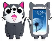 Samsung Galaxy S3 / I9300 3D Case Cat Kitten Shaped Silicone Case New Cute
