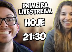 Anota aí que hoje vai rolar a primeira live do canal :D