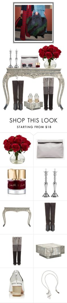 """""""Booted"""" by cherieaustin ❤ liked on Polyvore featuring Nearly Natural, Marie Turnor, Smith & Cult, Leeber Limited, Nicholas Kirkwood, Pamela Love and Gucci"""