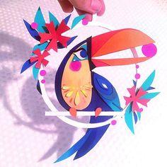 Brittney Lee Paper Craft Parrot Bird