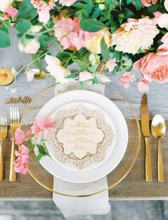 Table settings that wow: http://www.stylemepretty.com/2015/11/19/wedding-table-settings-that-make-for-a-beautiful-reception/