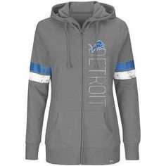 NFL Detroit Lions Women's Plus Size Athletic Tradition Full-Zip Hoodie