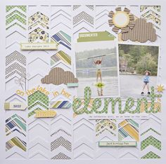 In Her Element - Scrapbook.com - Made with Jillibean Soup products.