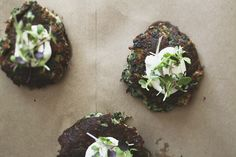 spinach and onion cakes via roost