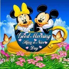 Pin by wanda bolt on mickey and minnie Good Morning Disney, Good Morning Smiley, Good Morning Happy Sunday, Good Morning Prayer, Morning Cartoon, Good Morning Greetings, Morning Morning, Happy Morning Quotes, Cute Good Morning Quotes