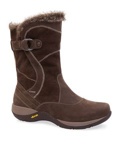 Look what I found on #zulily! Brown Cynthia Leather Boot #zulilyfinds