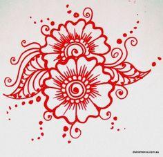 Tutorial 1 Arab fusion henna flower