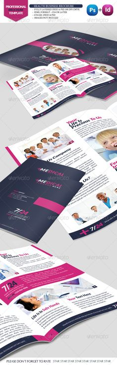 Health Business Brochure  #GraphicRiver         Fully layered  INDD   Fully layered  PSD   4 Pages .Indd & .Psd  IDML format open Indesign CS4 or later  Completely editable, print ready  Text/Font or Color can be altered as needed  All Image are in vector format, so can customise easily  Images Not Inculed  Help.txt file     Created: 17November12 GraphicsFilesIncluded: PhotoshopPSD #InDesignINDD Layered: Yes MinimumAdobeCSVersion: CS4 PrintDimensions: 8.5x11 Tags: a4brochure #business…