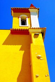 Yellow building in Spain