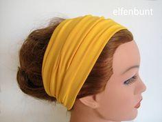 """Haarband """"Mais"""", Stirnband, ca. 12 cm breit von  Maria Elfenbunt auf DaWanda.com"""