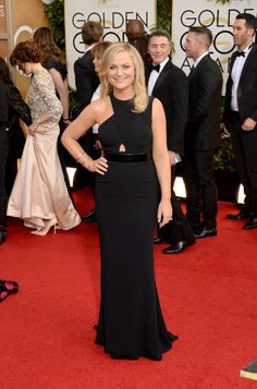 Amy Poehler is so sleek in Stella McCartney and Charlotte Olympia.