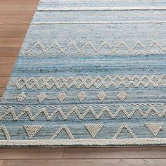Wouldn you rather be at the ocean right now? Ride the coastal-inspired waves of style and dimension in our Barstow Area Rug to enjoy a taste of that cool, kicked-back vibe, no matter where you call home. The relaxed, carefree feeling you get from time by the water is unlike anything else. Striations of solid and undeniably dynamic zigzag lines, in a range of soft blues and white, subtly evoke the same great feeling, so you can enjoy it anytime. Here something else really special about…