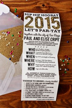 New Years Eve Party Invites