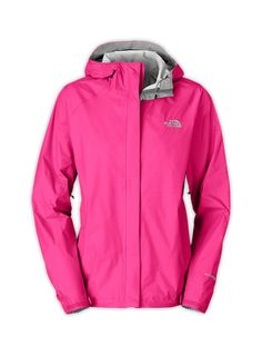 The North Face� Venture Jacket-� The North Face Venture jacket is light and compressible, engineered to withstand severe rain, and styled for everyday use. Venture out and explore, no matter what Mother Nature has in store.HyVent� 2.5L EC features a durable, waterproof outer layer paired with a breathable, polyurethane-coated inner layer that allows water vapor to escape.Fully seam sealed to prevent water from seeping inwards.Fixed, adjustable hood.Velcro� storm flap over full-zip front…
