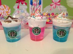 3 American Girl Starbucks drinks