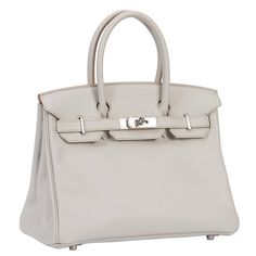 d6273f47ec5 Classy Birkin 30 in pearl grey | From a collection of rare vintage handbags  and purses