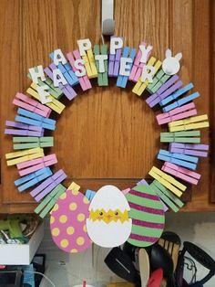 Wreath Crafts, Diy Wreath, Wreath Ideas, Diy Crafts, Thanksgiving Wreaths, Easter Wreaths, Holiday Wreaths, Easter Crafts, Holiday Crafts