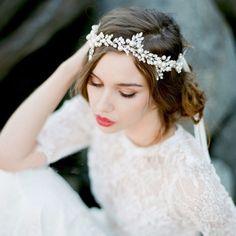 Crystal Rhinestone & Pearl Headpiece
