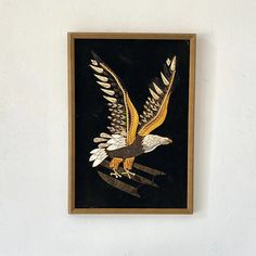 Vintage Eagle Velvet Art Piece | sunbeam-vintage