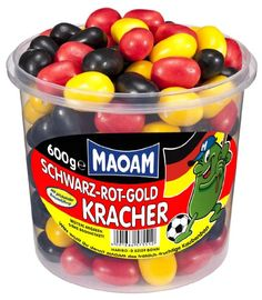 Maoam Schwarz-Rot-Gold-Kracher, 1er Pack (1 x 600 g) Ben And Jerrys Ice Cream, Snacks, Healthy Recipes, Healthy Foods, Desserts, Party Buffet, Unique, Outfits, Amazing